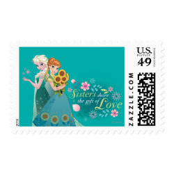 Medium Stamp 2.1' x 1.3' with The Gift of Love: Frozen Fever Sisters design