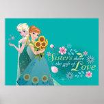 Anna and Elsa | Sister Love Poster