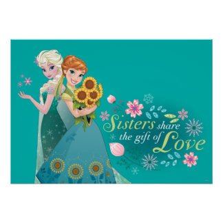 Anna and Elsa | Sister Love Poster