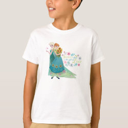 Kids' Hanes TAGLESS® T-Shirt with The Gift of Love: Frozen Fever Sisters design