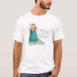 Men's Basic T-Shirt with The Gift of Love: Frozen Fever Sisters design
