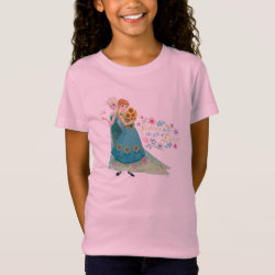Girls' Fine Jersey T-Shirt with The Gift of Love: Frozen Fever Sisters design