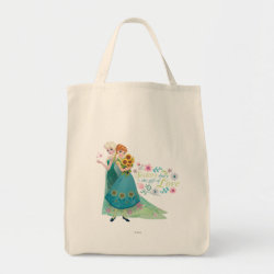 Grocery Tote with The Gift of Love: Frozen Fever Sisters design
