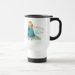 Travel / Commuter Mug with The Gift of Love: Frozen Fever Sisters design