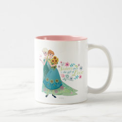 Two-Tone Mug with The Gift of Love: Frozen Fever Sisters design