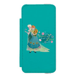 Incipio Watson™ iPhone 5/5s Wallet Case with The Gift of Love: Frozen Fever Sisters design