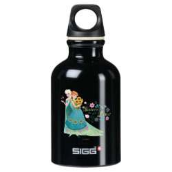 SIGG Traveller Water Bottle (0.6L) with The Gift of Love: Frozen Fever Sisters design