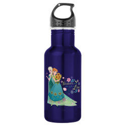 Water Bottle (24 oz) with The Gift of Love: Frozen Fever Sisters design