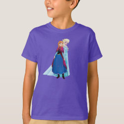 Kids' Hanes TAGLESS® T-Shirt with Sisters Anna & Elsa of Disney's Frozen design