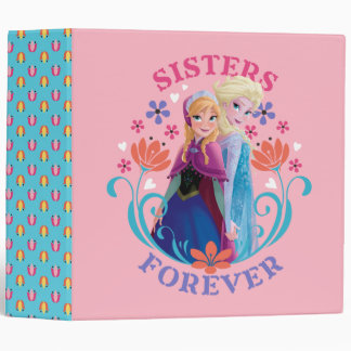 Anna and Elsa Sisters Forever 3 Ring Binders