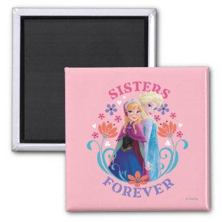 Anna and Elsa Sisters Forever Fridge Magnet