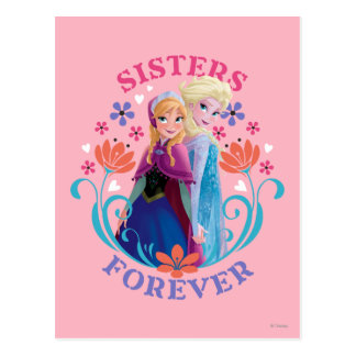 Anna and Elsa Sisters Forever Postcard