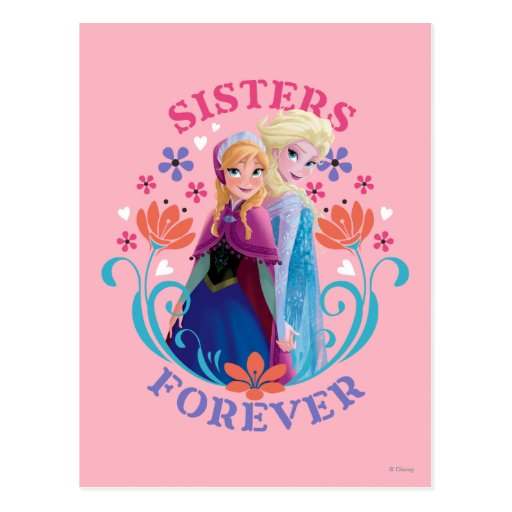 Anna and Elsa Sisters Forever Postcards