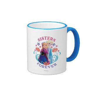 Anna and Elsa Sisters Forever Ringer Coffee Mug