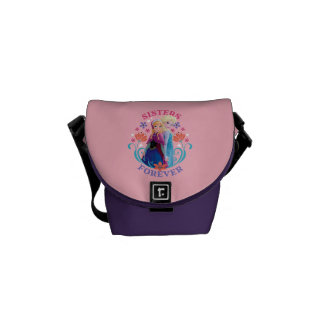 Anna and Elsa | Sisters with Flowers Courier Bag