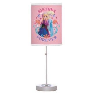 Anna and Elsa | Sisters with Flowers Desk Lamp