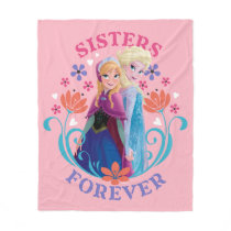 Anna and Elsa | Sisters with Flowers Fleece Blanket