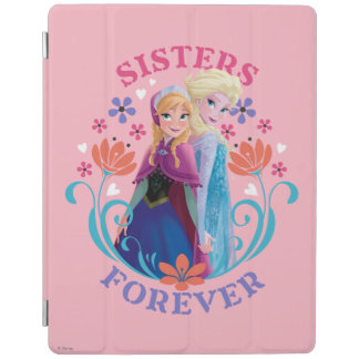 Anna and Elsa | Sisters with Flowers iPad Cover