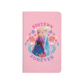 Anna and Elsa   Sisters with Flowers Journal