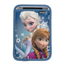 iPad Mini Sleeve with Disney's Frozen Princesses Anna & Elsa design