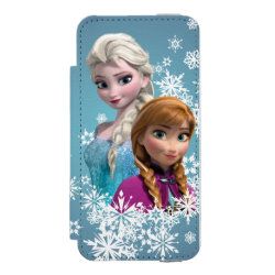 Incipio Watson™ iPhone 5/5s Wallet Case with Disney's Frozen Princesses Anna & Elsa design