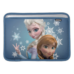 Macbook Air Sleeve with Disney's Frozen Princesses Anna & Elsa design