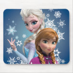 Anna and Elsa | Snowflakes Mouse Pad