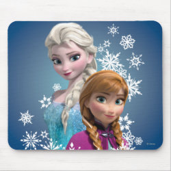 Mousepad with Disney's Frozen Princesses Anna & Elsa design