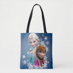 All-Over-Print Tote Bag, Medium with Disney's Frozen Princesses Anna & Elsa design