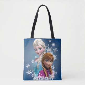 Anna and Elsa | Snowflakes Tote Bag