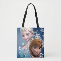 Disney's Frozen Princesses Anna & Elsa All-Over-Print Tote Bag, Medium