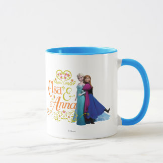 Anna and Elsa | Standing Back to Back Mug