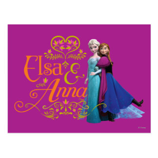 Anna and Elsa | Standing Back to Back Postcard