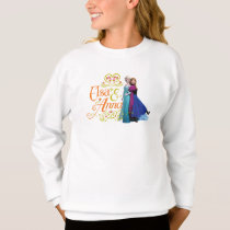 Anna and Elsa | Standing Back to Back Sweatshirt