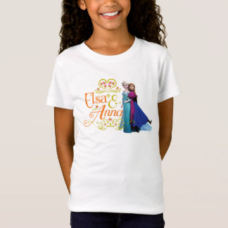 Anna and Elsa   Standing Back to Back T-Shirt