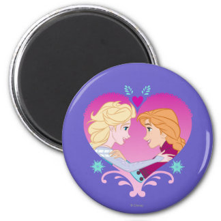 Anna and Elsa | Strong Bond 2 Inch Round Magnet