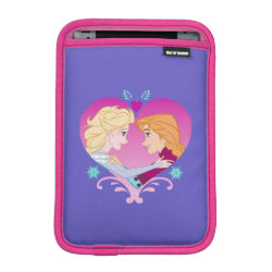iPad Mini Sleeve with Disney Princesses Anna & Elsa in Heart design