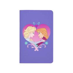 Pocket Journal with Disney Princesses Anna & Elsa in Heart design