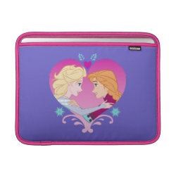 Macbook Air Sleeve with Disney Princesses Anna & Elsa in Heart design