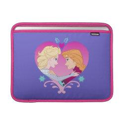 Macbook Air Sleeve with Disney Princesses Anna & Elsa in Heart design