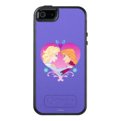 OtterBox Symmetry iPhone SE/5/5s Case with Disney Princesses Anna & Elsa in Heart design
