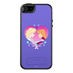 OtterBox Symmetry iPhone SE/5/5s Case with Disney Princesses Anna & Elsa in Heart design