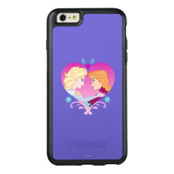 Disney Princesses Anna & Elsa in Heart OtterBox Symmetry iPhone 6/6s Plus Case