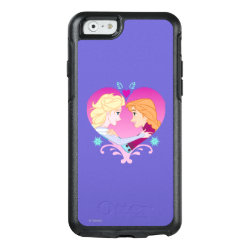 Disney Princesses Anna & Elsa in Heart OtterBox Symmetry iPhone 6/6s Case