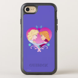 Disney Princesses Anna & Elsa in Heart OtterBox Apple iPhone 7 Symmetry Case