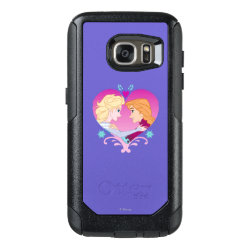 Disney Princesses Anna & Elsa in Heart OtterBox Commuter Samsung Galaxy S7 Case