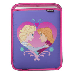 iPad Sleeve with Disney Princesses Anna & Elsa in Heart design
