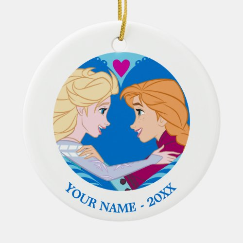 Anna and Elsa | Strong Bond, Strong Heart Ceramic Ornament