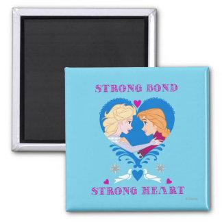 Anna and Elsa | Strong Bond, Strong Heart Magnet