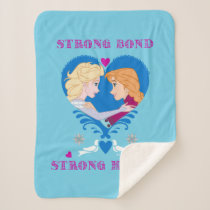 Anna and Elsa | Strong Bond, Strong Heart Sherpa Blanket